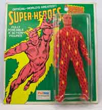 palitoy Mego Human Torch Card