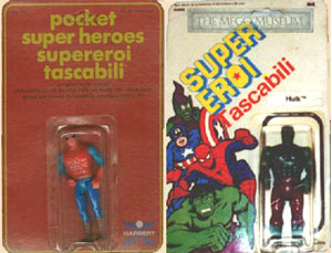Harbert carried the pocket superheroes line